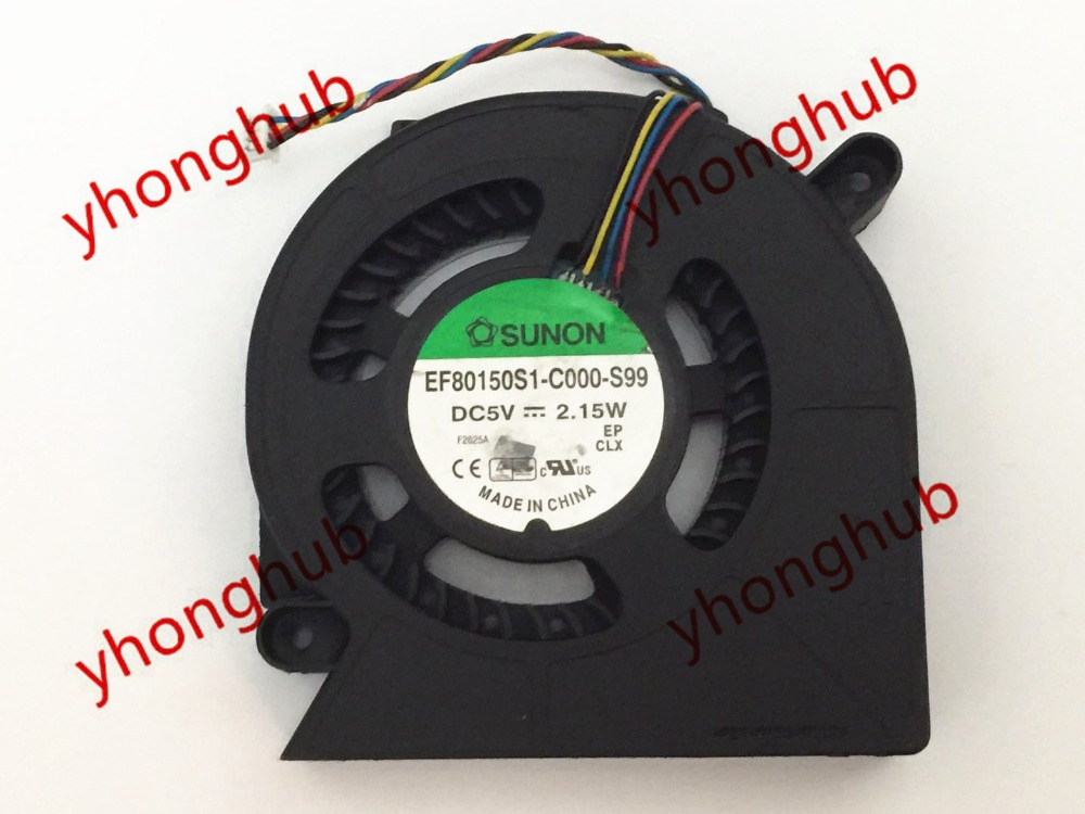 SUNON EF80150S1-C000-S99 DC 5 V 2.15 W 4-wire Sunucu Laptop Fan