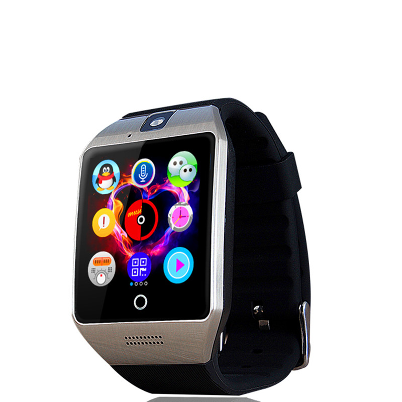 Q18s smart watch saat destek sim tf kart bluetooth 0.3mp kamera ile nfc bağlantısı apple ios android telefon için smartwatch